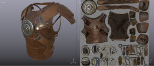 Leather Armor + Map