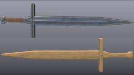 Wooden/Metal Sword
