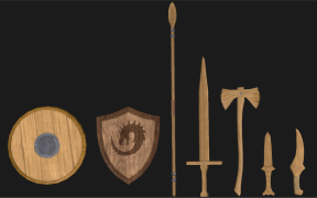 Wooden Weapons Front