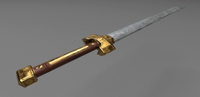 Chinese War Sword - Created in Mudbox, Maya, and Substance Painter.